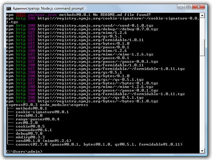 Установка MVC Framework для Node.js