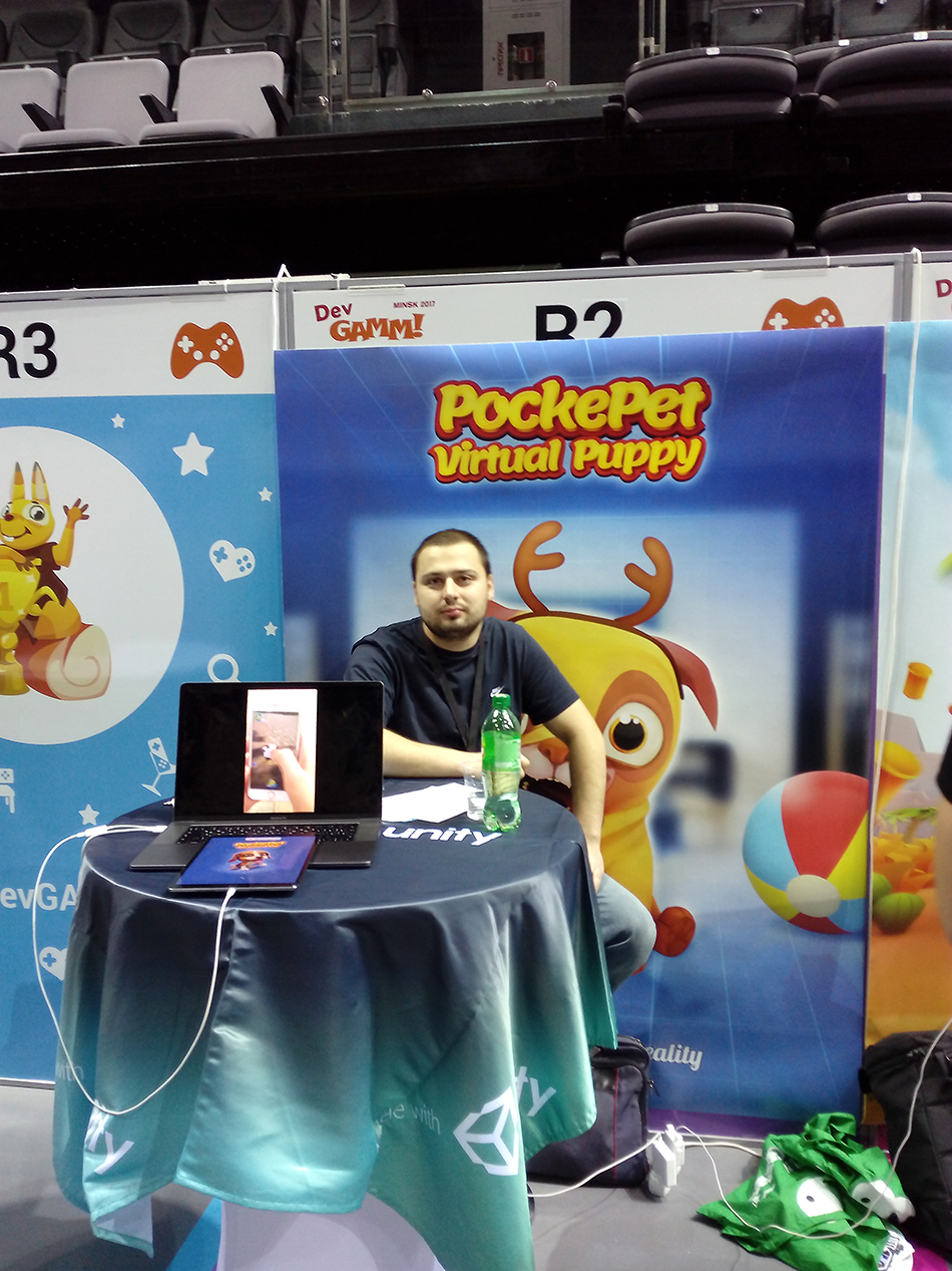 Игра Pockepet: AR Puppy на DevGAMM 2017
