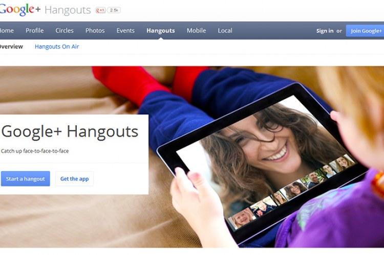 Компания Googlе презентовала групповой видеочат Hangouts