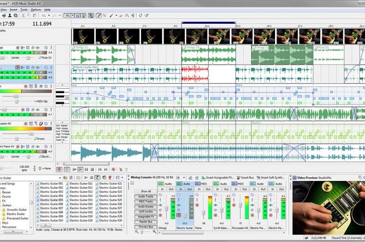 Sony ACID Music Studio 8. Скриншоты программы