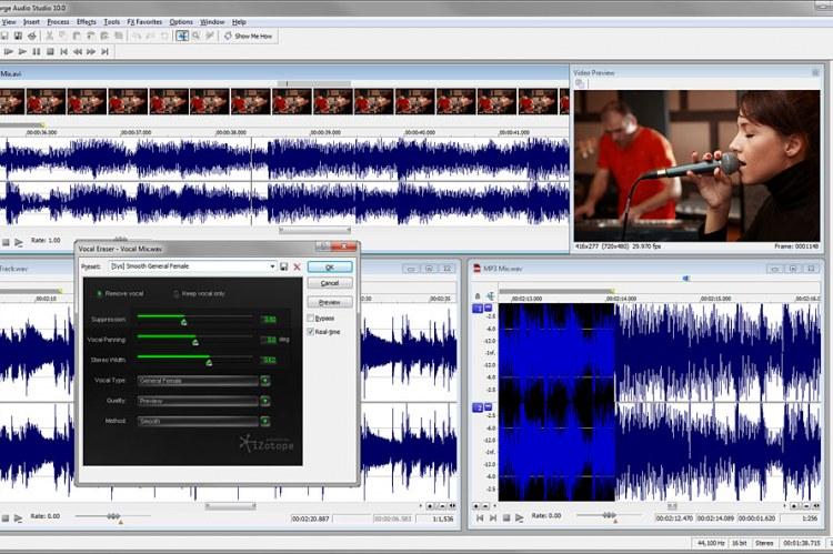Sound Forge Audio Studio 10. Пользовательский интерфейс