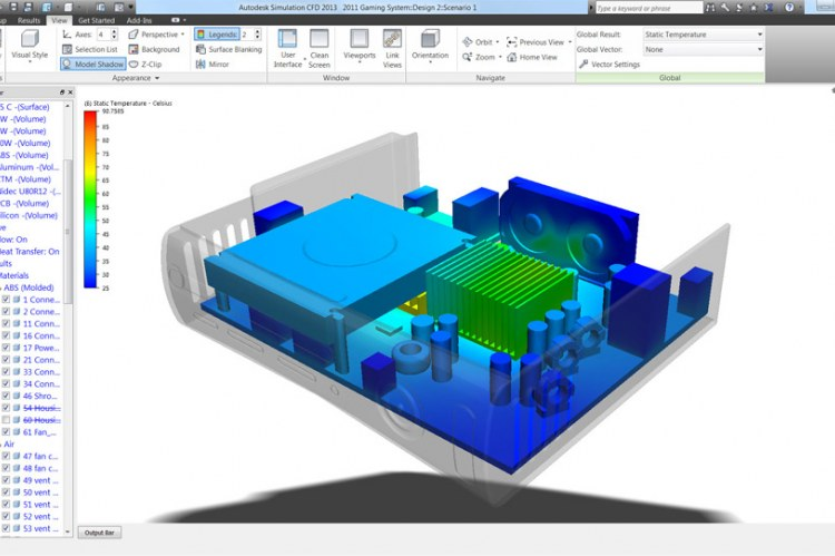 Благодаря новым инструментам навигации и ориентирования в Autodesk Simulation CFD 2013 повышается производительность моделирования и быстрее происходит оценка полученных результатов