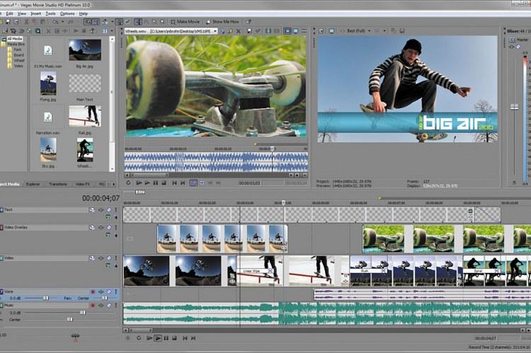Vegas Movie Studio Platinum HD 10. Пользовательский интерфейс
