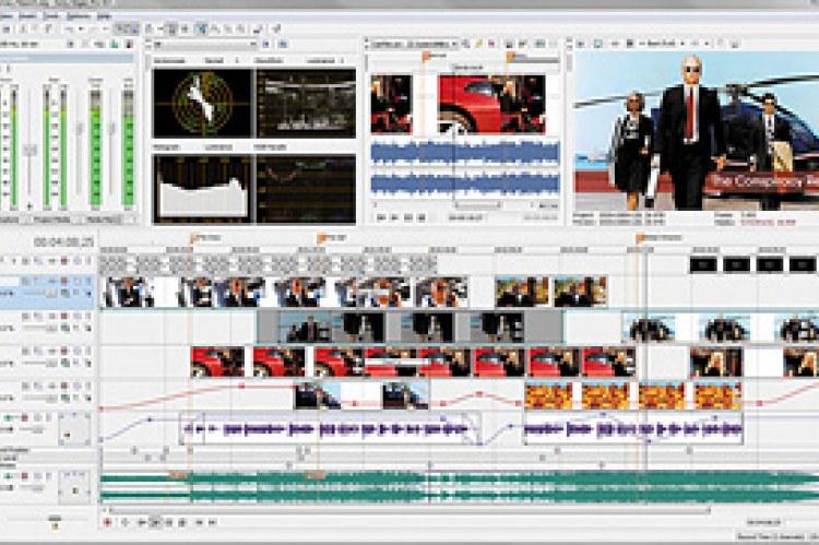 Sony Vegas Movie Studio HD 9. Интерфейс программы