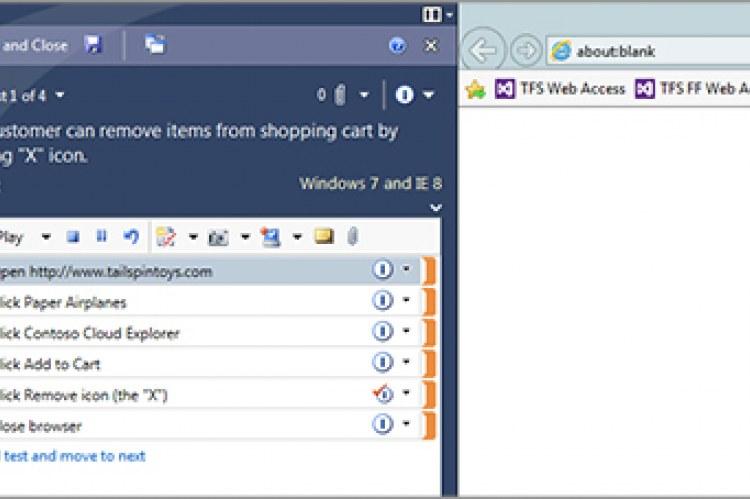 Visual Studio Test Professional 2013. Проведение, запись и повторение ручных тестов