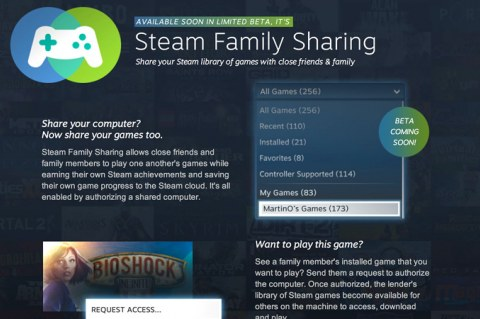 Valve Steam Family Sharing