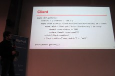 PyCon Belarus'16. Async client