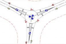 С помощью AutoCAD Civil 3D можно проектировать обычные и круговые перекрестки