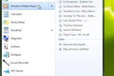 Windows 7. Windows media player