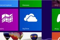 Microsoft Windows 8 Professional. SkyDrive