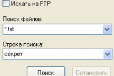 10-Strike Network File Search. Форма поиска
