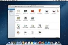Mac OS X Mountain Lion. Finder