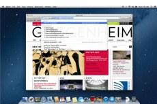 Mac OS X Mountain Lion. Safari