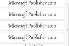Приложение Publisher 2010 поддерживает профессиональные типографские возможности во многих шрифтах OpenType