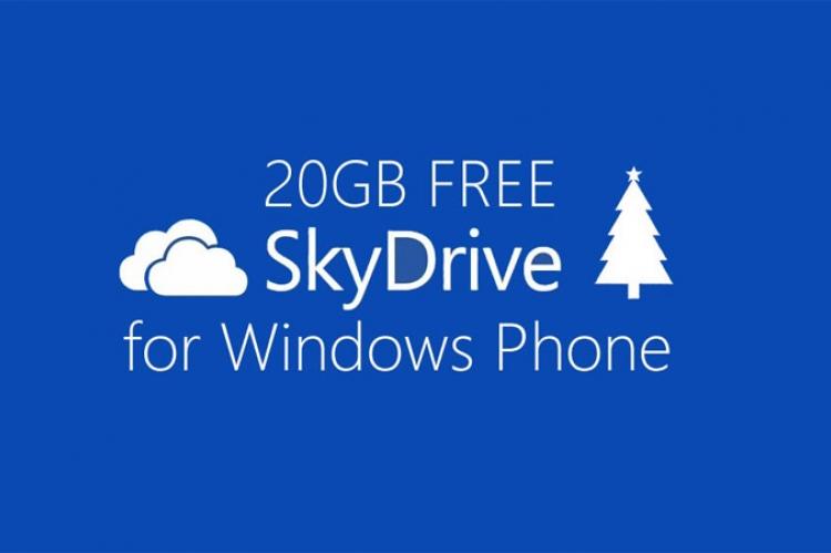 20 Gb Skydrive для Windows Phone пользователей