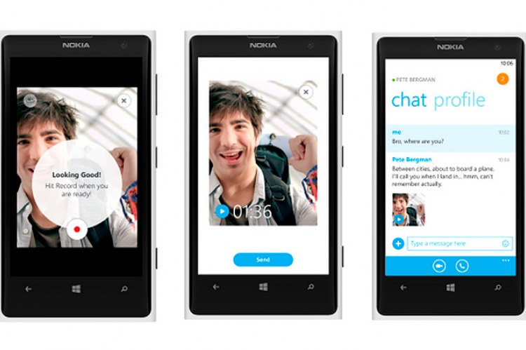 Видеосообщения Skype для Windows Phone 8
