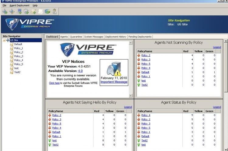 GFI VIPRE - центр управления