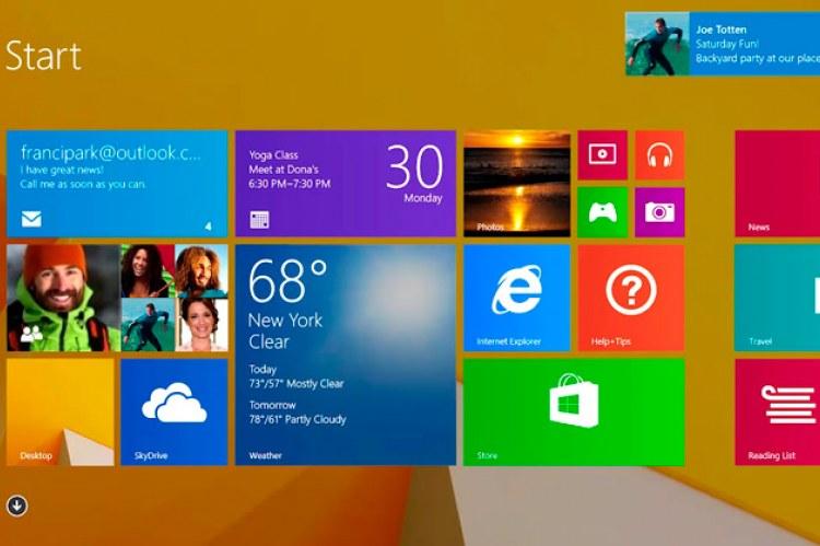 Windows 8.1. Плиточный интерфейс
