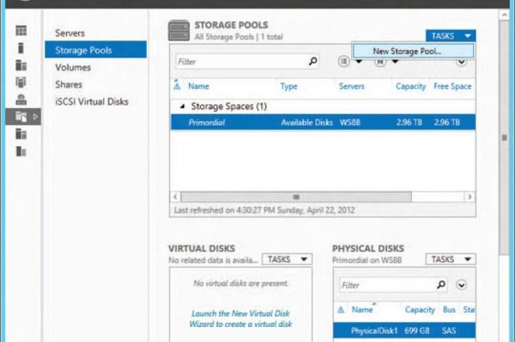 Windows Server 2012 Standard. Управление дисками