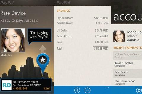 PayPal для Windows Phone