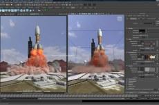 Модуль Maya Fluid Effects позволяет выполнять моделирование и рендеринг реалистичных эффектов атмосферы, взрывов, вязких жидкостей и естественных водных поверхностей