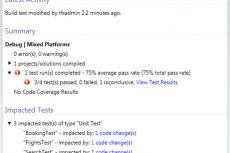 Microsoft Visual Studio Premium 2010. Определение влияния тестирования на основе изменений кода