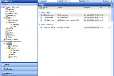 Почтовые папки в GFI MailArchiver Outlook Connector