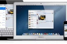 Mac OS X Mountain Lion. iMessage на различных устройствах Apple