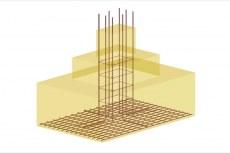 На 3D-видах AutoCAD Structural Detailing отображаются элементы армирования и геометрия железобетонных элементов конструкций
